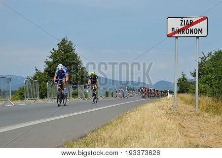 ZIAR NAD HRONOM, SLOVAKIA - JUNE 26, 2017: The Slovak and Czech National road cycling championship.