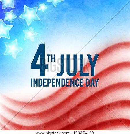 Fourth of July, American Independence Day background, vector illustration