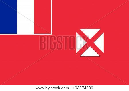 Flag of Wallis and Futuna officially the Territory of the Wallis and Futuna Islands is a French island. Vector illustration