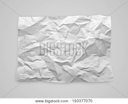 Crumpled Paper On Gray