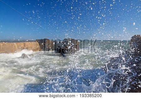 Windy Day Splashing Waves