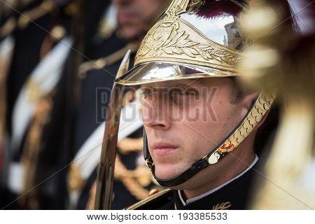 Guard Of Honor At The Elysee Palace