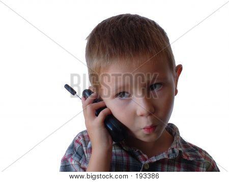 Quizical Cellphone Boy