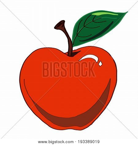 apple icon food healhty red nature design