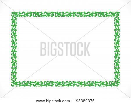abstract artistic detailed green border vector illustration