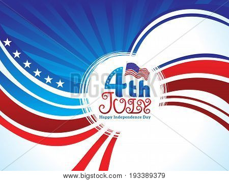 abstract artistic american independence day baclground vector illustration