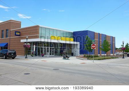 AUSTIN, MINNESOTA - JUNE 21, 2017: The Spam Museum. The 16,000 square foot space is dedicated to Spam, the canned precooked meat product made by the Hormel Foods Corporation.