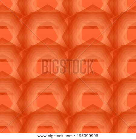 Abstract Orange Background Composed Of Overlapping Polygons, Modern Seamless Decorative Vector Backg