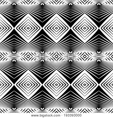 Design Seamless Monochrome Diamond Pattern