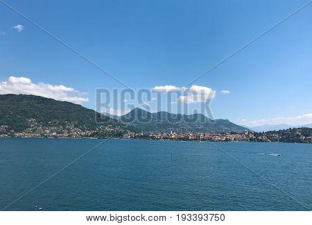 Lake Maggiore Island Madre Italy landscape panorama