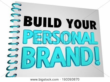 Build Your Personal Brand Book Instructions 3d Illustration