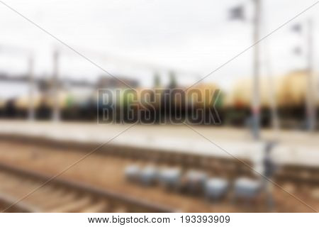 A diffuse abstract background can be an illustration to an article on freight transport and railroad traffic