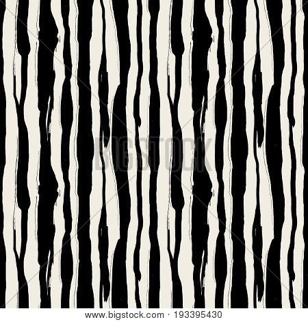 Seamless Brushpen Textile Doodle Pattern Grunge Texture