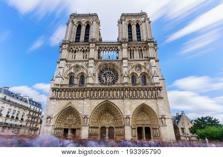 The famous Cathedral Notre-Dame de Paris French Gothic architecture is one of the most well-known church in the world Paris France
