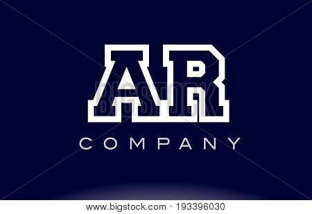 Ar A R  Alphabet Letter Logo Icon Company
