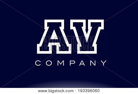 Av A V Alphabet Letter Logo Icon Company