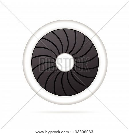 airplane engine vector art illustration on white