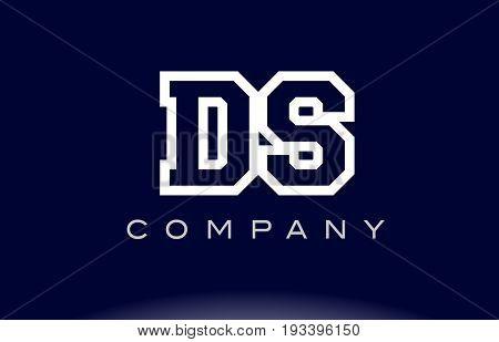 Ds D S Alphabet Letter Logo Icon Company