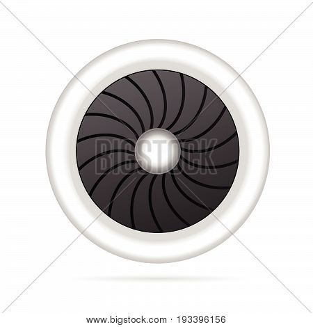 Airplane Engine Single Illustration