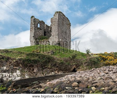 Minard Castle In Ireland
