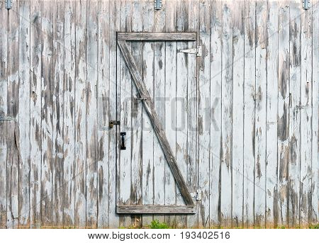 Rustic Barn Doors, Wooden Planks And Locks Closeup