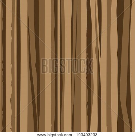 Uneven brown stripes, seamless, background, wood texture, imitation, vector.  Vertical, wavy lines on brown background. Abstract pattern.
