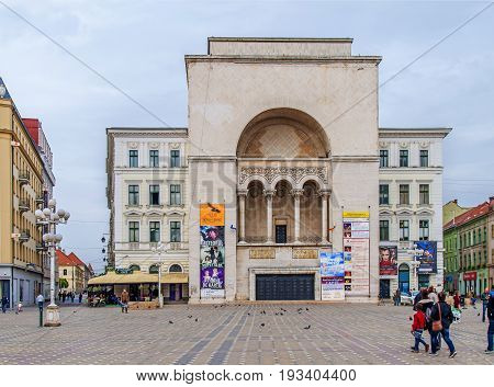 TIMISOARA, ROMANIA - 15 OCTOBER 2016 - The Romanian National Opera in Timisoara, public opera and ballet institution