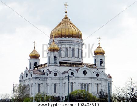 The Cathedral of Christ the Saviour in Moscow Russia