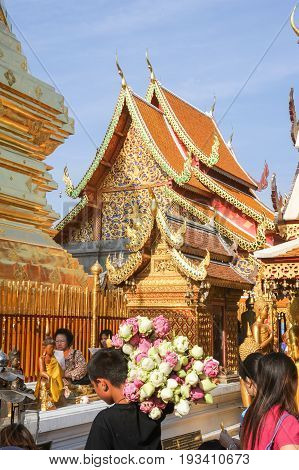 Wat Phra That Doi Suthep Temple At Chiang Mai