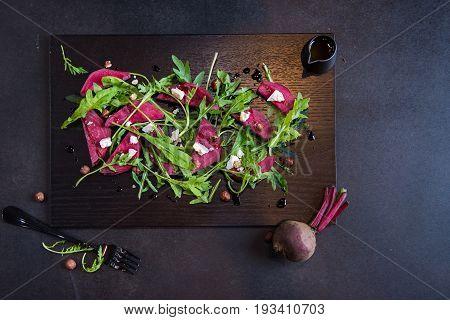 Beautiful Healthy Paleo Green Salad with Radish.