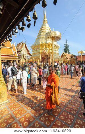 Wat Phra That Doi Suthep Temple At Chiang Mai