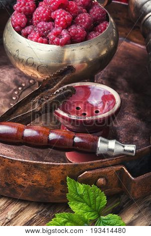 Shisha Hookah With Raspberries