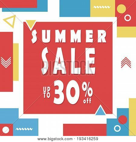 Summer Sale Banner For Booklet, Flyer, Poster, Advertising Logo, Leaflet For The Store Template Desi