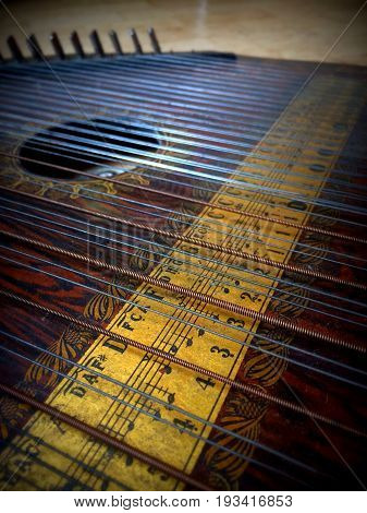 old wood nostalgic trembling strings with chords