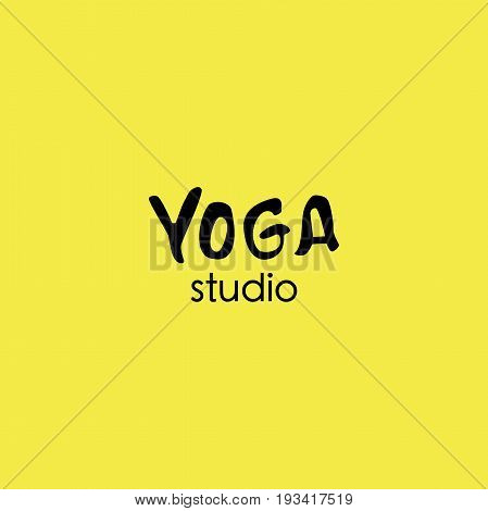 Yoga logo abstract design template linear style health spa meditation harmony logotype