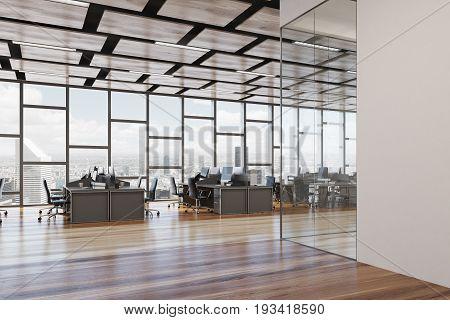 Wooden Floor Open Space Office