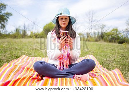 Attractive Smiling Young Woman With Phone