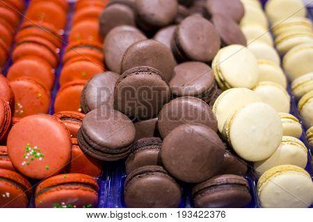 Circular Cake Macaron Or Macaroon