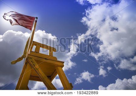 Tower Of Look-out For Beach-attendant