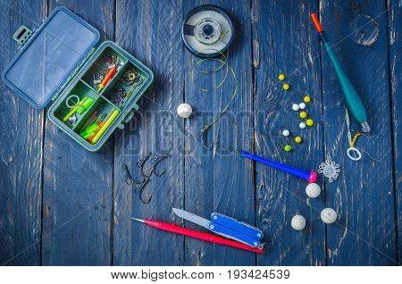 Accessories and tools for carp fishing. Sport fishing. Carp fishing.