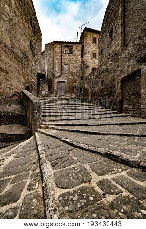Pitigliano tuff houses medieval town among the most beautiful villages in Italy.