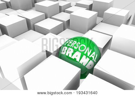 Personal Brand Be Unique Different Special 3d Illustration