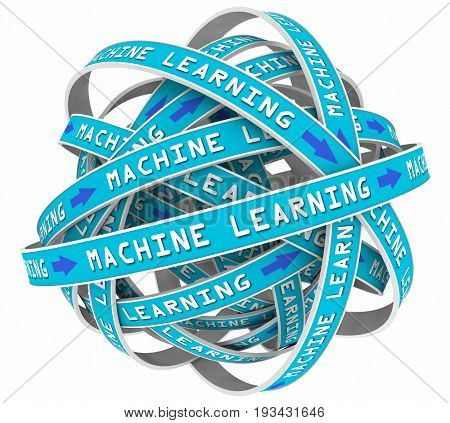 Machine Learning Process Loops Input AI Artificial Intelligence 3d Illustration