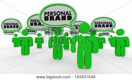 Personal Brand People Speech Bubbles Market Yourself 3d Illustration