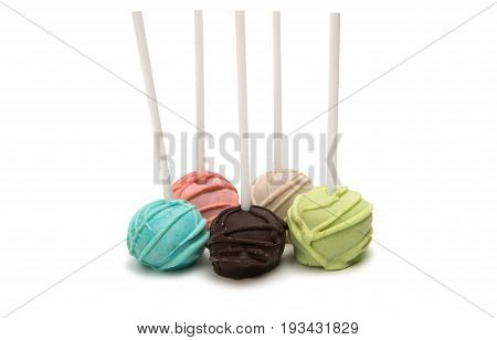 Cake Pops on a White Background