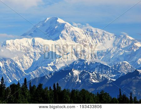 Denali/Mount McKinley in Denali National Park Alaska