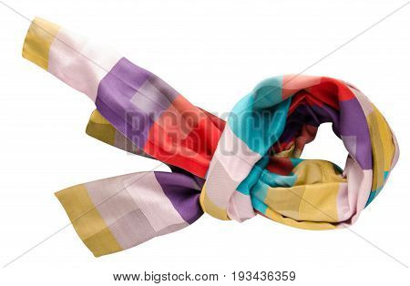 scarf summer. multicolored scarf. Scarf top view.