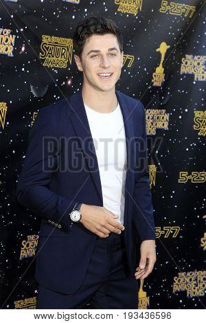 BURBANK - JUN 28: David Henrie at the 43rd Annual Saturn Awards at The Castaway on June 28, 2017 in Burbank, California