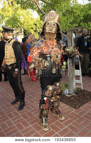 BURBANK - JUN 28: Cosplayer, Steampunk at the 43rd Annual Saturn Awards at The Castaway on June 28, 2017 in Burbank, California