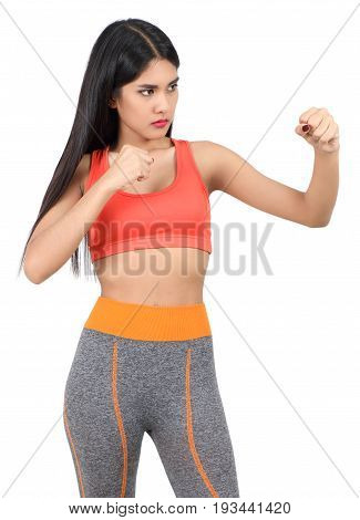 Woman In Workout Clothes